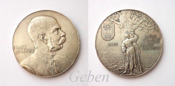 F.J. I. Střelecká medaile 1898