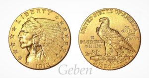 2 1/2 Dollars 1913 Indian Head – Quarter Eagle