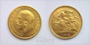 1/2 Sovereign 1912 London