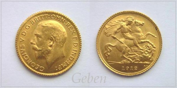 1/2 Sovereign 1912 London