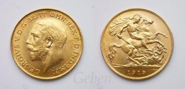 Půl Sovereign 1913