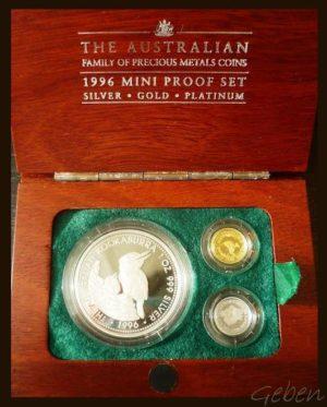 Zlato, stříbro, platina - Luxusní sada
