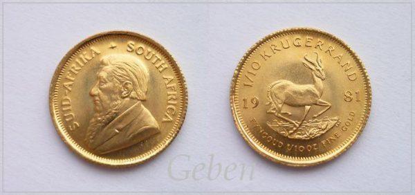Krugerrand 1981 - 1/10 Oz
