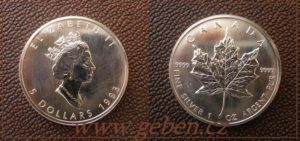5 Dollars 1993 - Maple Leaf