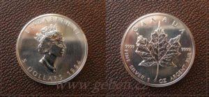 5 Dollars 1994 - Maple Leaf