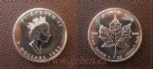 5 Dollars 1995 - Maple Leaf