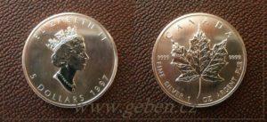 5 Dollars 1997 - Maple Leaf