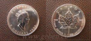 5 Dollars 1998 - Maple Leaf