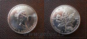 5 Dollars 2000 - Maple Leaf
