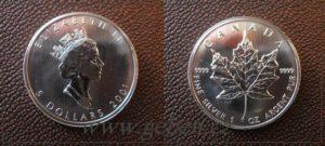 5 Dollars 2001 - Maple Leaf