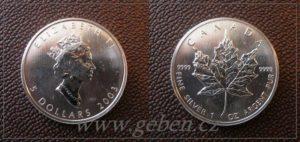 5 Dollars 2003 - Maple Leaf