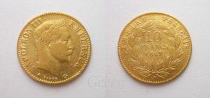 10 Frank 1867 A Napoleon III.