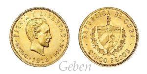 5 Pesos 1916 CUBA