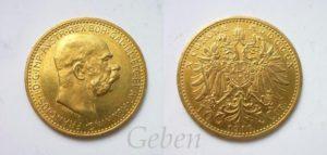 10 Koruna 1910 Schwartz