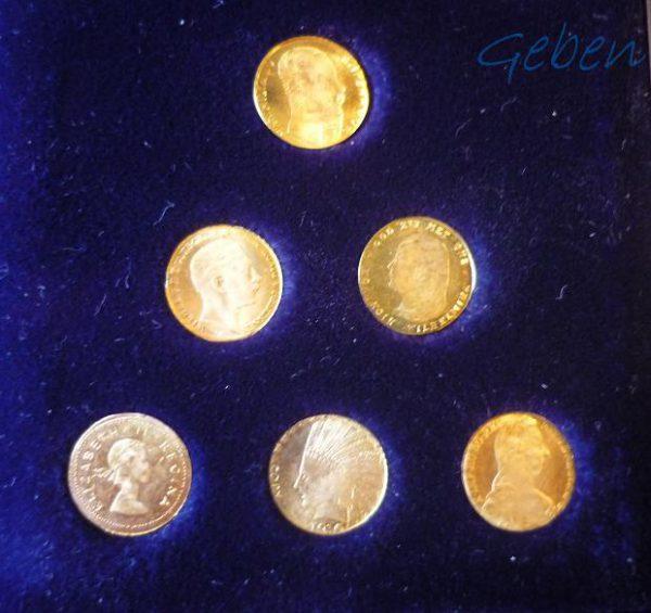 Miniatury klasických zlatých mincí