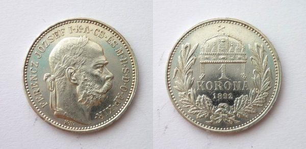 1 Koruna 1892 KB TOP stav RL