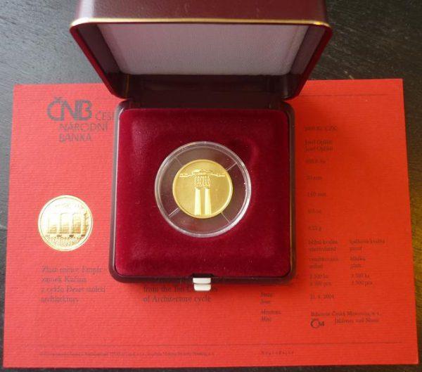 Zlatá mince 2000 Kč Zámek KAČINA Empír