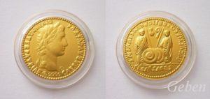 Aureus Octavian Augustus - mince z roku 0