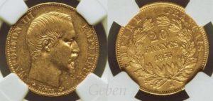 20 Frank 1855 BB Napoleon III.