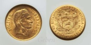 10 Bolivar 1930 Venezuela MS 65
