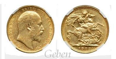 Sovereign 1902 Edward VII.