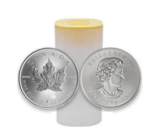 1 Oz 580 Kč Stříbrná investiční mince Maple Leaf 50 kusů