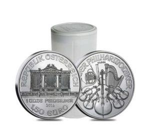 1 Oz 580 Kč Stříbrná investice Wiener Philharmoniker 60 kusů