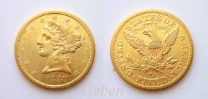 5 dollars 1880 S Liberty