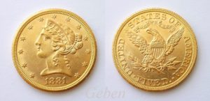 5 dollars 1881 Liberty