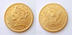 5 dollars 1885 Liberty