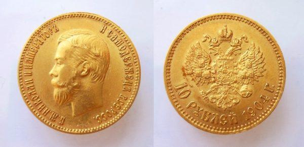 10 RUBL 1904 Mikuláš II.