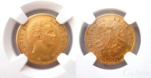 5 Marka 1877 D LUDWIG II.