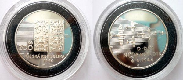 200 Kč 1994 NORMANDIE Den D - PROOF