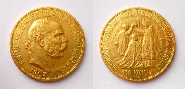 100 Koruna 1907 KB KORUNOVAČNÍ - VZÁCNÁ