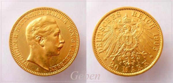 20 Mark 1905 A Wilhelm II.