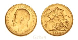 Sovereign 1922 P - Král Jiří