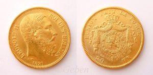 20 Frank 1870 Leopold II. 1 typ