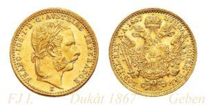Dukát 1867 E