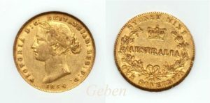 Sovereign 1864 Sydney - Victoria Young Head  AUSTRALIA