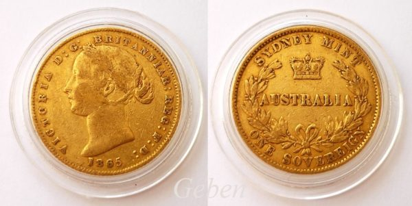 Sovereign 1865 Sydney - Victoria Young Head AUSTRALIA
