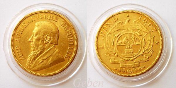 1 POND 1897 Kruger ! Jižní Afrika