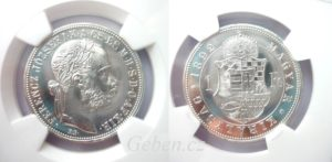 Forint 1892 KB Restrike PROOF - NGC PF 65 !