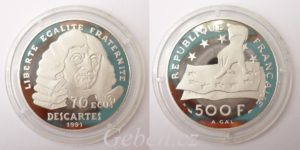 500 Frank 1991 DESCARTES - PLATINA R