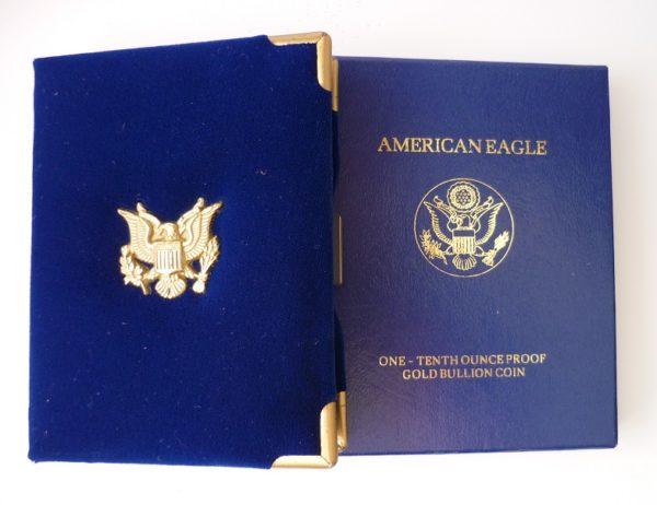 Luxusní etue na 1/10 Oz American Eagle