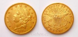 20 Dollars 1875 s Liberty Head - Double Eagle