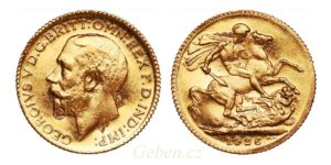 Full Sovereign 1926 SA George V. - 3 kontramarky !