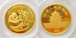 100 Yuan 1983 - 1 Oz PCGS MS 68