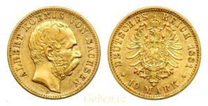 10 Marka 1881 E Albert I. Sasko