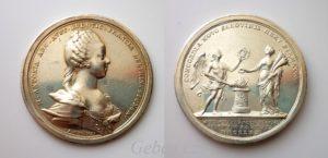 Stříbrná svatební medaile - Marie Antoinette 1770