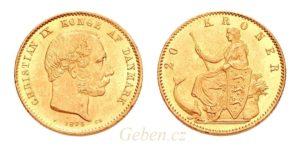 20 KRONER Dánsko 1873
